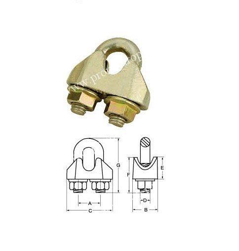 Зажим DIN 1142 (усиленный)